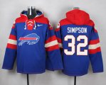 Cheap Nike Bills #32 O. J. Simpson Royal Blue Player Pullover NFL Hoodie