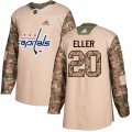 Cheap Adidas Capitals #20 Lars Eller Camo Authentic 2017 Veterans Day Stitched NHL Jersey