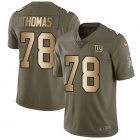 Cheap Nike Giants #78 Andrew Thomas Olive/Gold Youth Stitched NFL Limited 2017 Salute To Service Jersey