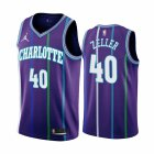 Cheap Nike Hornets #40 Cody Zeller Purple 2019-20 Classic Edition Stitched NBA Jersey