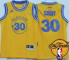 Cheap Youth Golden State Warriors #30 Stephen Curry Yellow Hardwood Swingman 2016 The NBA Finals Patch Jersey