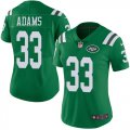Cheap Nike Jets #33 Jamal Adams Green Women's Stitched NFL Limited Rush Jersey
