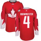 Cheap Team Canada #4 Jay Bouwmeester Red 2016 World Cup Stitched Youth NHL Jersey