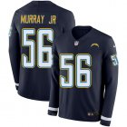 Cheap Nike Chargers #56 Kenneth Murray Jr Navy Blue Team Color Youth Stitched NFL Limited Therma Long Sleeve Jersey