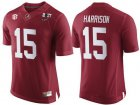 Cheap Men's Alabama Crimson Tide #15 Ronnie Harrison Red 2017 Championship Game Patch Stitched CFP Nike Limited Jersey