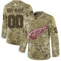 Cheap Men's Adidas Red Wings Personalized Camo Authentic NHL Jersey