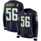 Cheap Nike Chargers #56 Kenneth Murray Jr Navy Blue Team Color Women's Stitched NFL Limited Therma Long Sleeve Jersey