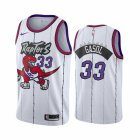 Cheap Nike Raptors #33 Marc Gasol White 2019-20 Hardwood Classic Edition Stitched NBA Jersey
