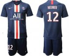 Cheap Paris Saint-Germain #12 Meunier Home Soccer Club Jersey