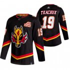 Cheap Calgary Flames #19 Matthew Tkachuk Black Men's Adidas 2020-21 Reverse Retro Alternate NHL Jersey