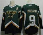 Cheap Men's Dallas Stars #9 Mike Modano 2005 Green CCM Throwback Stitched Vintage Hockey Jersey