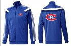 Cheap NHL Montreal Canadiens Zip Jackets Blue-4