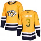 Cheap Adidas Predators #3 Steven Santini Yellow Home Authentic Drift Fashion Stitched NHL Jersey