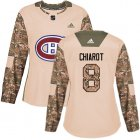 Cheap Adidas Canadiens #8 Ben Chiarot Camo Authentic 2017 Veterans Day Women's Stitched NHL Jersey