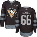 Cheap Adidas Penguins #66 Mario Lemieux Black 1917-2017 100th Anniversary Stitched NHL Jersey