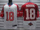 Cheap Colts #18 Peyton Manning Red 2010 Pro Bowl Stitched NFL Jersey