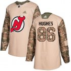 Cheap Adidas Devils #86 Jack Hughes Camo Authentic 2017 Veterans Day Stitched NHL Jersey