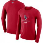 Cheap Houston Texans Nike Property Of Sideline Performance Long Sleeve T-Shirt Red
