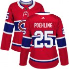 Cheap Adidas Canadiens #25 Ryan Poehling Red Home Authentic Women's Stitched NHL Jersey