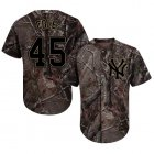 Cheap Yankees #45 Gerrit Cole Camo Realtree Collection Cool Base Stitched Youth MLB Jersey
