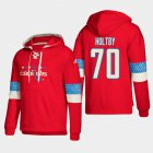 Cheap Washington Capitals #70 Braden Holtby Red adidas Lace-Up Pullover Hoodie