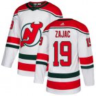Cheap Adidas Devils #19 Travis Zajac White Alternate Authentic Stitched Youth NHL Jersey