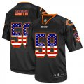 Cheap Nike Bears #58 Roquan Smith Black Men's Stitched NFL Elite USA Flag Fashion Jersey