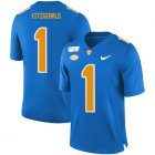Cheap Pittsburgh Panthers 1 Larry Fitzgerald Blue 150th Anniversary Patch Nike College Football Jersey