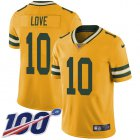 Cheap Nike Packers #10 Jordan Love Yellow Youth Stitched NFL Limited Rush 100th Season Jersey