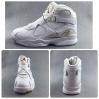 Cheap Air Jordan 8 Retro White Ovo White/Blur Dark Gold-Varsity Red