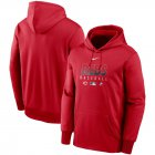 Cheap Men's Cincinnati Reds Nike Red Authentic Collection Therma Performance Pullover Hoodie