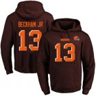 Cheap Nike Browns #13 Odell Beckham Jr Brown Name & Number Pullover NFL Hoodie