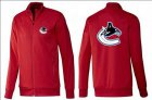 Cheap NHL Vancouver Canucks Zip Jackets Red