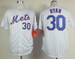 Cheap Mets #30 Nolan Ryan White(Blue Strip) Home Cool Base Stitched MLB Jersey