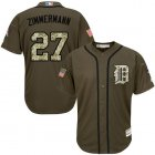 Cheap Tigers #27 Jordan Zimmermann Green Salute to Service Stitched Youth MLB Jersey