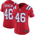 Cheap Nike Patriots #46 James Develin Red Alternate Women's Stitched NFL Vapor Untouchable Limited Jersey