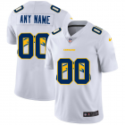 Cheap Los Angeles Chargers Custom White Men's Nike Team Logo Dual Overlap Limited NFL Jersey