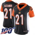 Cheap Nike Bengals #21 Mackensie Alexander Black Team Color Women's Stitched NFL 100th Season Vapor Untouchable Limited Jersey