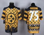 Cheap Nike Steelers #75 Joe Greene Gold Men's Stitched NFL Elite Noble Fashion Jersey