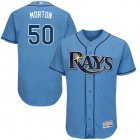 Cheap Rays #50 Charlie Morton Light Blue Flexbase Authentic Collection Stitched MLB Jersey