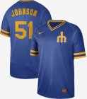 Cheap Nike Mariners #51 Randy Johnson Royal Authentic Cooperstown Collection Stitched MLB Jersey