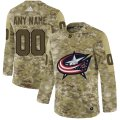Cheap Men's Adidas Blue Jackets Personalized Camo Authentic NHL Jersey