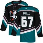 Cheap Adidas Ducks #67 Rickard Rakell Black/Teal Alternate Authentic Youth Stitched NHL Jersey