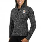 Cheap Calgary Flames Antigua Women's Fortune 1/2-Zip Pullover Sweater Red