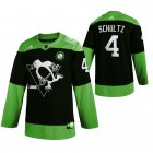 Cheap Pittsburgh Penguins #4 Justin Schultz Men's Adidas Green Hockey Fight nCoV Limited NHL Jersey