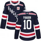 Cheap Adidas Rangers #10 Artemi Panarin Navy Blue Authentic 2018 Winter Classic Women's Stitched NHL Jersey