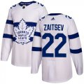 Cheap Adidas Maple Leafs #22 Nikita Zaitsev White Authentic 2018 Stadium Series Stitched NHL Jersey