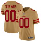 Cheap Nike San Francisco 49ers Customized Gold Men's Stitched NFL Limited Inverted Legend Jersey