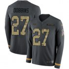 Cheap Nike Ravens #27 J.K. Dobbins Anthracite Salute to Service Youth Stitched NFL Limited Therma Long Sleeve Jersey