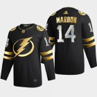 Cheap Tampa Bay Lightning #14 Patrick Maroon Men's Adidas Black Golden Edition Limited Stitched NHL Jersey